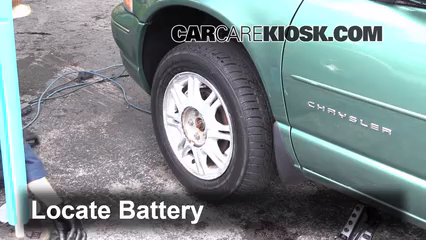 1999 chrysler sebring battery location