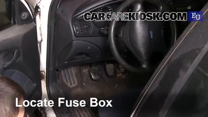 interior fuse box location 1996 2002 fiat marea 1998 fiat marea Fiat Brava 2001 locate interior fuse box and remove cover
