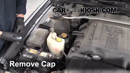 1998 Infiniti Q45 4.1L V8%2FPower Steering Part 2 follow these steps to add power steering fluid to a infiniti q45 1995 Infiniti Q45 at creativeand.co