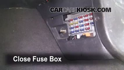 Interior Fuse Box Location 1993 1998 Jeep Grand Cherokee 1998