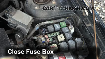 replace a fuse 1998 2002 mazda 626 1998 mazda 626 lx 2 0l 4 cyl6 replace cover secure the cover and test component