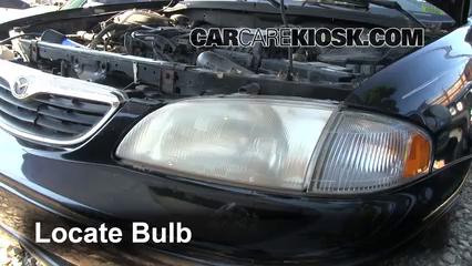 headlight change 1998 2002 mazda 626 1998 mazda 626 lx 2 0l 4 cyl Mazda Factory Parts 1998 mazda 626 lx 2 0l 4 cyl lights highbeam (replace bulb)