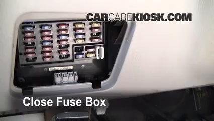 interior fuse box location: 1998-2001 nissan altima - 1998 nissan altima  gxe 2 4l 4 cyl