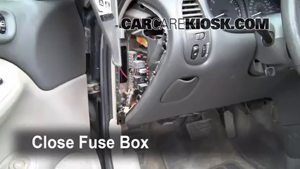 Interior Fuse Box Location 1998 2002 Oldsmobile Intrigue