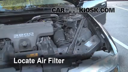 1998 Oldsmobile Intrigue GL 3.8L V6 Filtro de aire (motor)