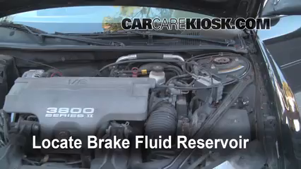 1998 Oldsmobile Intrigue GL 3.8L V6 Brake Fluid Add Fluid
