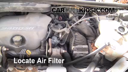 air filter how-to: 1997-2005 pontiac trans sport - 1998 pontiac trans sport  montana 3.4l v6 (4 door)  carcarekiosk