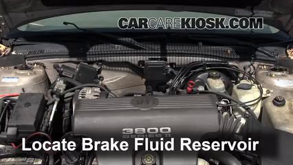 1998 Buick Park Avenue 3.8L V6 Liquide de frein Ajouter du liquide