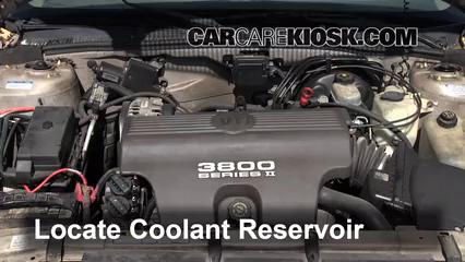1998 Buick Park Avenue 3.8L V6 Antigel (Liquide de Refroidissement) Vérifiez le niveau d'antigel