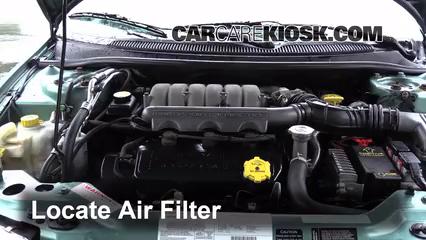 1998 Chrysler Cirrus LXi 2.5L V6 Filtre à air (moteur) Changement