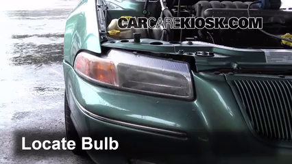 1998 Chrysler Cirrus LXi 2.5L V6 Éclairage Feux de croisement (remplacer l'ampoule)