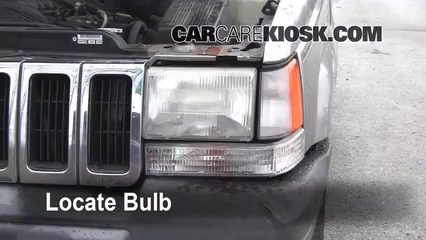 1998 Jeep Grand Cherokee TSi 4.0L 6 Cyl. Lights Headlight (replace bulb)
