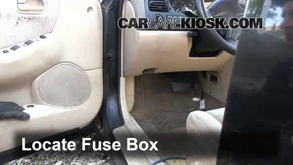 Interior Fuse Box Location: 1998-2002 Mazda 626 - 1998 Mazda 626 LX 2.0L 4  Cyl. | 1998 Mazda 626 Fuse Box |  | CarCareKiosk