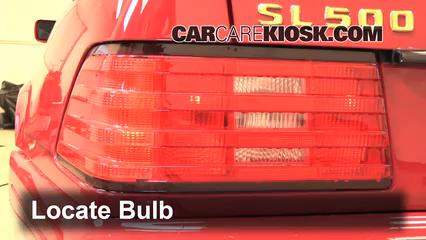 1998 Mercedes-Benz SL500 5.0L V8 Luces Luz de giro trasera (reemplazar foco)
