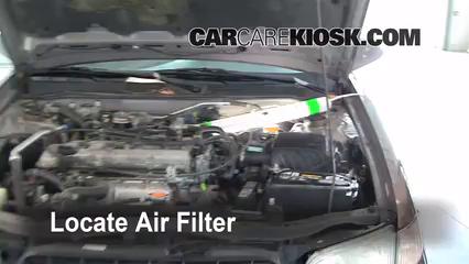1998 Nissan Altima GXE 2.4L 4 Cyl. Filtro de aire (motor)