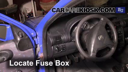 interior fuse box location: 1993-2000 opel corsa - 1998 opel corsa b ii  1.0l 3 cyl.  carcarekiosk