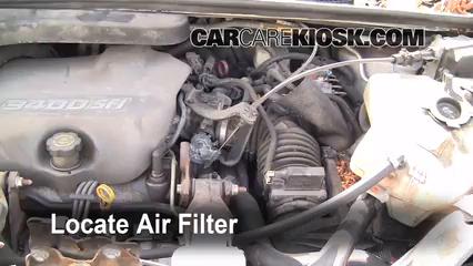 1998 Pontiac Trans Sport Montana 3.4L V6 (4 Door) Air Filter (Engine)