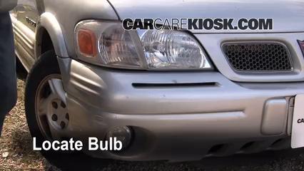 1998 Pontiac Trans Sport Montana 3.4L V6 (4 Door) Éclairage Feu antibrouillard (remplacer l'ampoule)