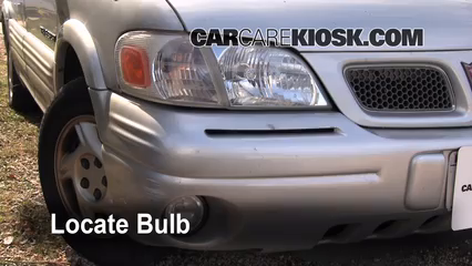 1998 Pontiac Trans Sport Montana 3.4L V6 (4 Door) Éclairage Feu de jour (remplacer l'ampoule)