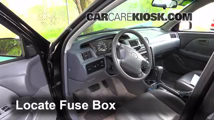 Interior Fuse Box Location: 1997-2001 Toyota Camry - 1998 Toyota Camry LE  2.2L 4 Cyl. | 1998 Camry Fuse Box |  | CarCareKiosk