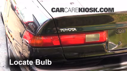 1998 Toyota Camry XLE 3.0L V6 Luces Luz trasera (reemplazar foco)