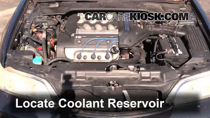 How To Add Coolant Acura CL Acura CL Premium L V - Acura cl 97