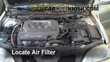 [SCHEMATICS_48DE]  Air Filter How-To: 1999-2003 Acura TL - 1999 Acura TL 3.2L V6 | 2001 Acura Tl Fuel Filter Location |  | CarCareKiosk