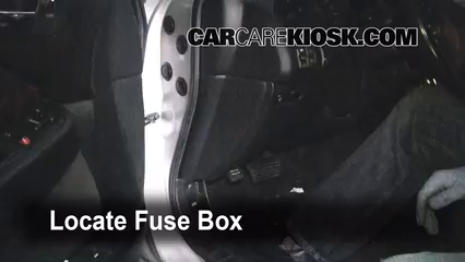 Interior Fuse Box Location: 1999-2003 Acura TL - 1999 Acura TL 3.2L V6