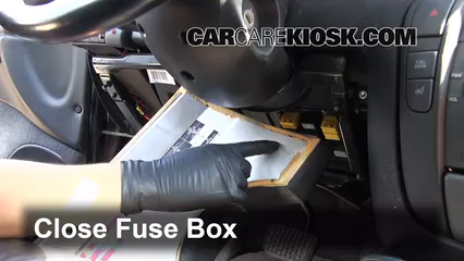 Interior Fuse Box Location 1997 2001 Cadillac Catera