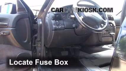 interior fuse box location 1997 2001 cadillac catera 19991999 cadillac catera 3 0l v6 fuse (interior) check
