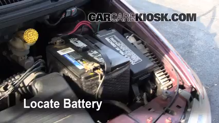 Battery Locate Part on Dodge Caravan Spare Tire Location