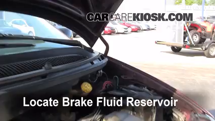 1999 Dodge Caravan 3.0L V6 Brake Fluid Check Fluid Level