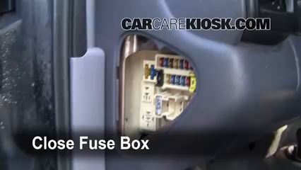 interior fuse box location   dodge durango