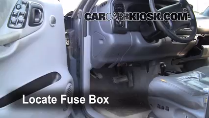 Fuse Interior Part 1 interior fuse box location 1998 2003 dodge durango 1999 dodge 2003 Chevy Cargo Van at bayanpartner.co