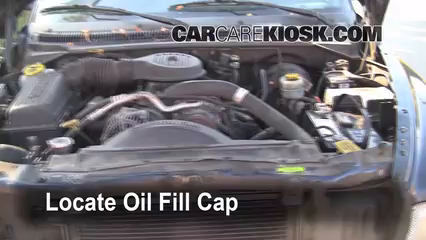 Oil Fill Cap Part on 1999 Dodge Dakota Sport Problems