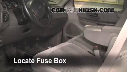 interior fuse box location 1997 2002 ford expedition 1998 ford 2002 Ford Mustang Fuse Box locate interior fuse box and remove cover