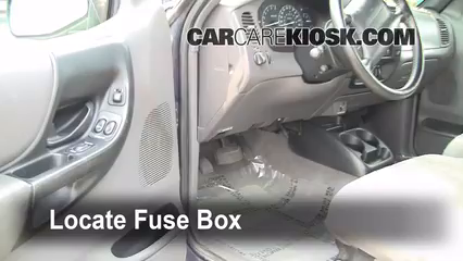 interior fuse box location 1998 2005 ford ranger 1999 ford ranger rh carcarekiosk com