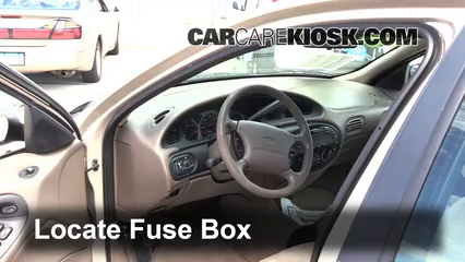 interior fuse box location 1996 1999 ford taurus 1997 ford taurus rh carcarekiosk com  96 ford taurus gl fuse box diagram