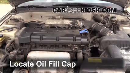 How To Add Oil Hyundai Elantra 1996 2000