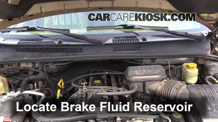 1999 Jeep Grand Cherokee Limited 4.0L 6 Cyl. Brake Fluid Check Fluid Level