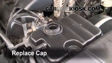 Fix Hose Leaks 19982011 Lincoln Town Car 1999. Secure The Coolant Reservoir Cap. Ford. Ford Motor Parts Diagram Cooling System 1998 Town Car At Scoala.co