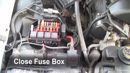 replace a fuse 1992 2011 mercury grand marquis 1999 mercury grand 1996 Mercury Marquis Fuse Box 6 replace cover secure the cover and test component