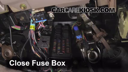 interior fuse box location: 1996-1999 mercury sable - 1999 mercury sable ls  3 0l v6 sedan