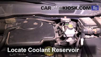 Add Coolant: Opel Astra (1991-2002) - 1999 Opel Astra ...