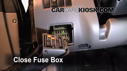 Interior Fuse Box Location: 1993-2001 Subaru Impreza - 1999 Subaru