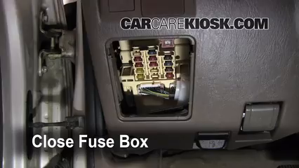 interior fuse box location 1996 2002 toyota 4runner 1999 toyota rh carcarekiosk com 2005 Toyota 4Runner Fuse Box Diagram 2007 Toyota 4Runner Fuse Box Diagram