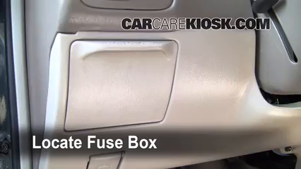 interior fuse box location: 1998-2002 toyota corolla