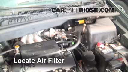 1999 toyota sienna le 3 0l v6 air filter (engine) check
