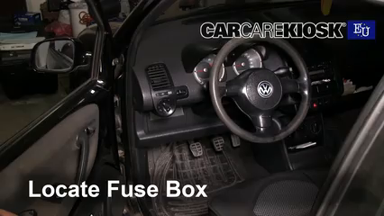 99 vw beetle fuse box interior fuse box location 1999 2005 volkswagen lupo 1999  interior fuse box location 1999 2005