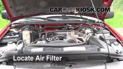 1999 Chevrolet Blazer LS 4.3L V6 (4 Door) Filtre à air (moteur)